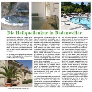 Heilquellenkur in Badenweiler